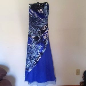 NWT ROBERTA $90 Royal Junior Party Prom Evening Dress 7